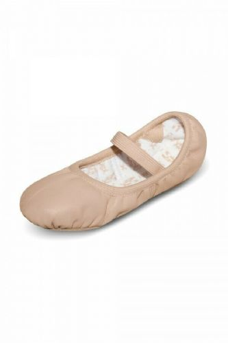 Bloch Girls Leather Ballet Shoes Elastic Bindings Full Sole S0249 Pink Giselle